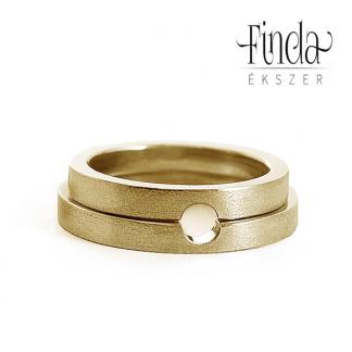 Connection Egység sárga arany karikagyűrű
