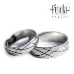 Inda nemesacél karikagyűrű 1. kép Inda nemesacél karikagyűrű