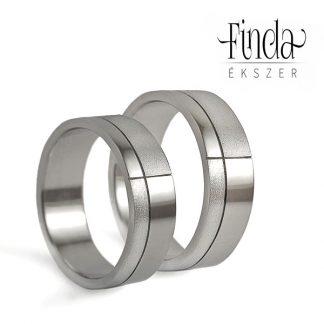Mondrian karikagyűrűpár