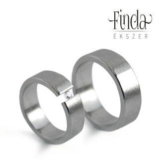 Rustic nemesacél karikagyűrűpár