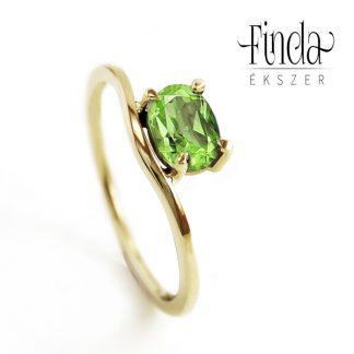 Szellő arany gyűrű peridottal