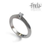 Viola nemesacél gyémánt gyűrű