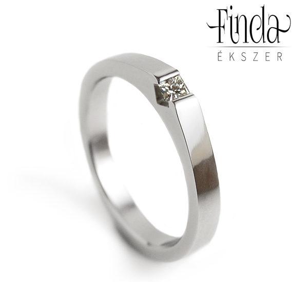 Zafira gyémánt gyűrű eljegyzésre