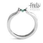 Liliom eljegyzési gyűrű zöld zafírral