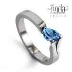 Tulipán kék topáz gyűrű
