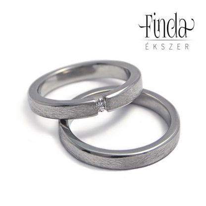 Rustic Slim karikagyűrű gyémánttal