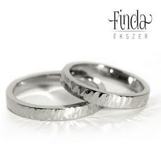 Aura fehér arany karikagyűrű
