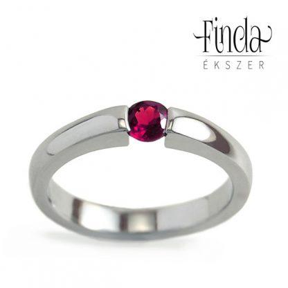 Minimal gyűrű rubinnal