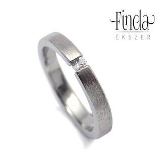 Rustic Slim gyűrű fehér gyémánt gyűrű