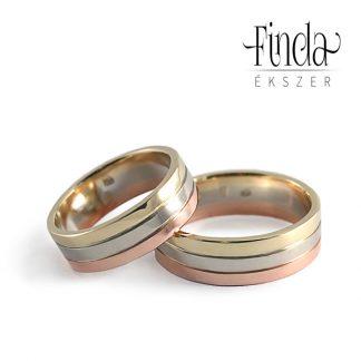 Trinity - három színű arany karikagyűrű