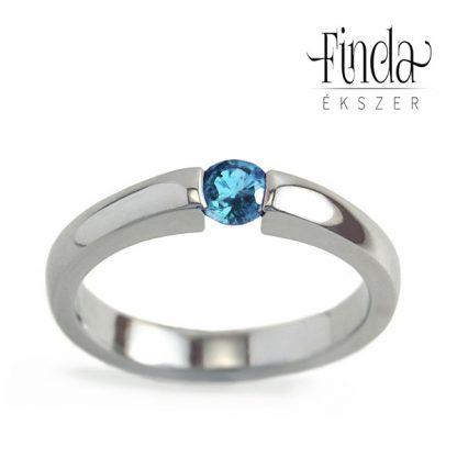 Minimal gyűrű kék topázzal