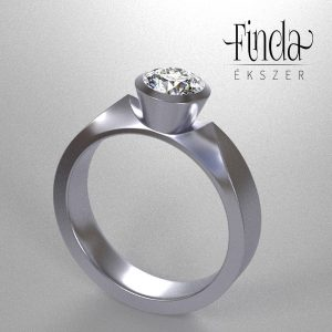 1 karátos gyémánt gyűrű - terv 1