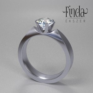 1 karátos gyémánt gyűrű - terv 2