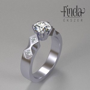 1 karátos gyémánt gyűrű - terv 4