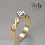 1 karátos gyémánt gyűrű - terv 5