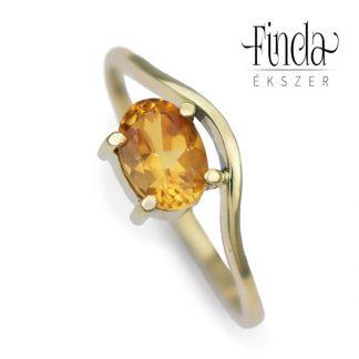 Szellő arany gyűrű citrinnel